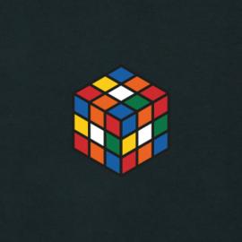 Rubik's Cube Men's Hoodie | Black