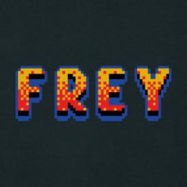 Pixel Logo Men's Hoodie | Black