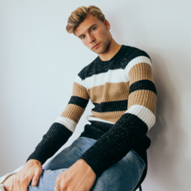Striped Sweater | Camel