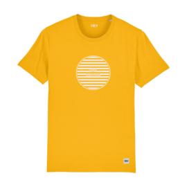Striped Circle Tee | Yellow