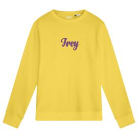 Handwriting Women's Sweater | Yellow