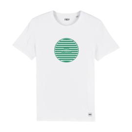 Striped Circle Tee | White