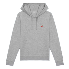 Red Pepper Men's Hoodie | Grey Melee