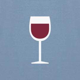 Wine Tee   Stone Blue