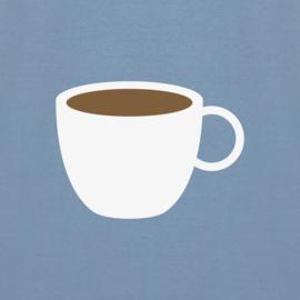 Coffee Tee | Stone Blue