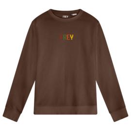 Colored Logo Women's Sweater | Mocha