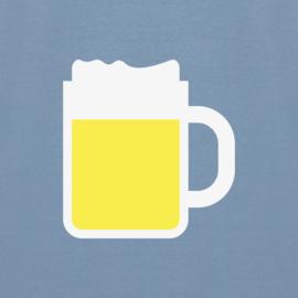 Beer Tee | Stone Blue