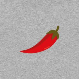 Red Pepper Men's Hoodie | Grey Melee