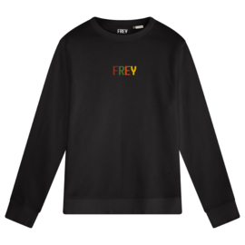 Colored Logo Men's Sweater | Black