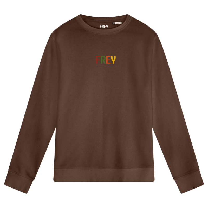 Colored Logo Men's Sweater   Mocha