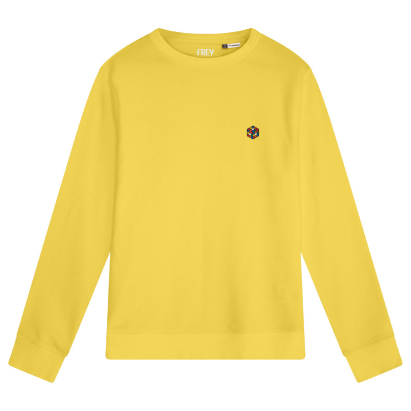 Rubik's Cube Women's Sweater | Yellow