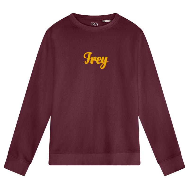 Handwriting Men's Sweater | Burgundy