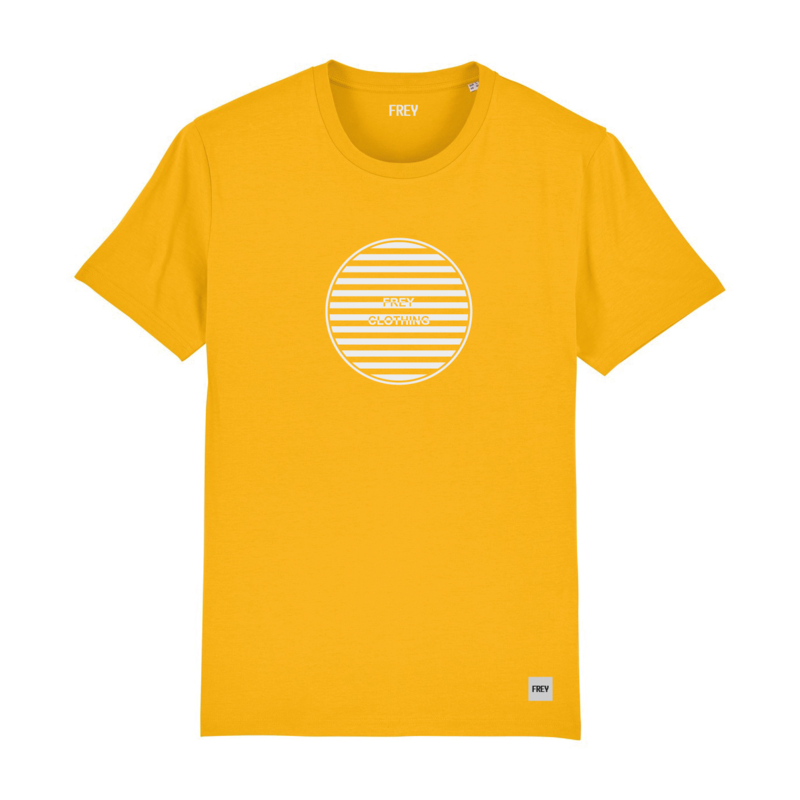 Striped Circle Tee | Yellow