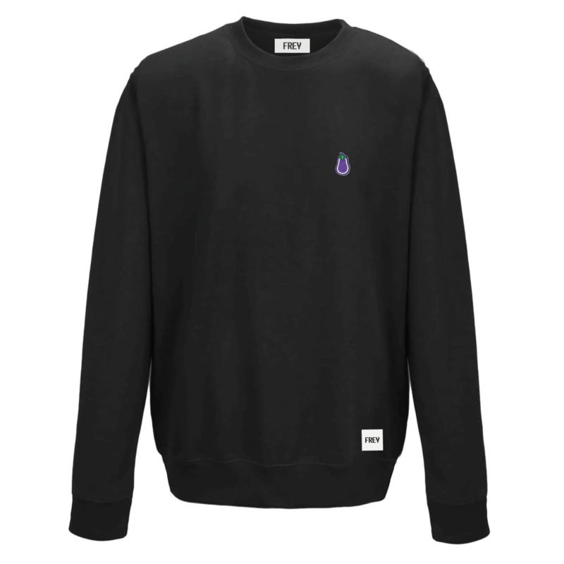 Eggplant Sweat | Zwart