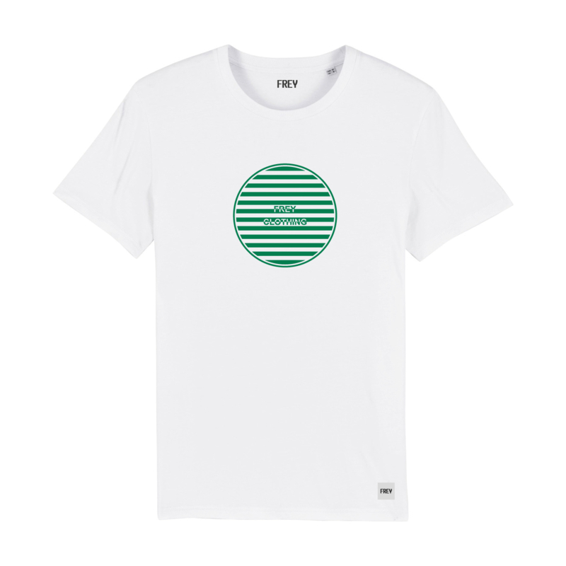 Striped Circle Tee | White