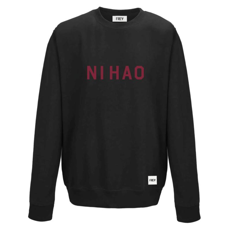 Ni Hao Sweat | Zwart