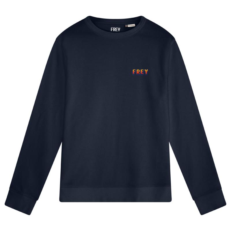 Pixel Logo Men's Sweater | Navy