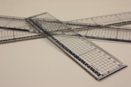 Kunststof liniaal met snijrand 20cm