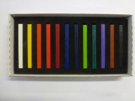 """Koh-I-Noor """"hard""""pastels (conté) set à 12 stuks"""