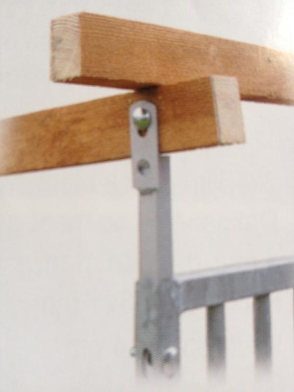 Daksteun gegalvaniseerd in hoogte verstelbaar