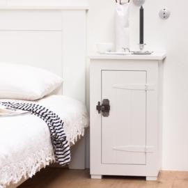 Houten locker nachtkastje - Wit