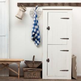 Boeren deeldeur opbergkast - Wit