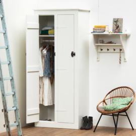 Houten lockerkast 2-deurs hang-leg - Wit