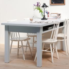 Eettafel met vakken 210cm - Wit