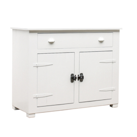 Houten locker commode - Wit