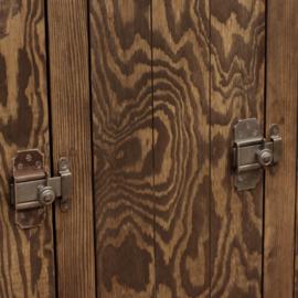 Houten lockerkast 3-deurs middel - Ebben