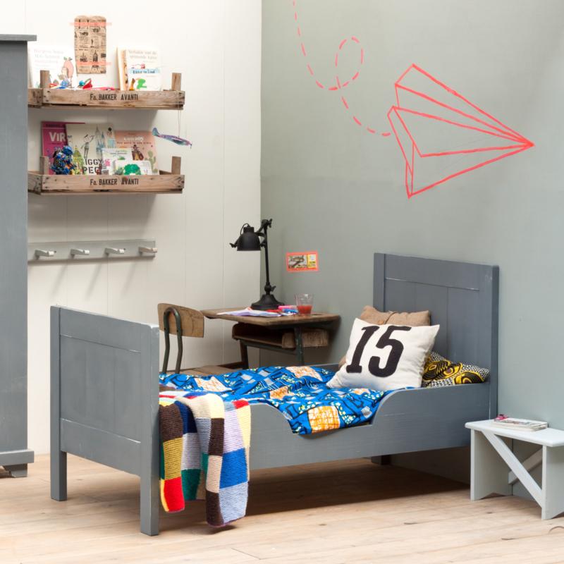 Verbazingwekkend Houten peuterbed Dax - Kinderbed - 70x150cm -Grijs NL-11