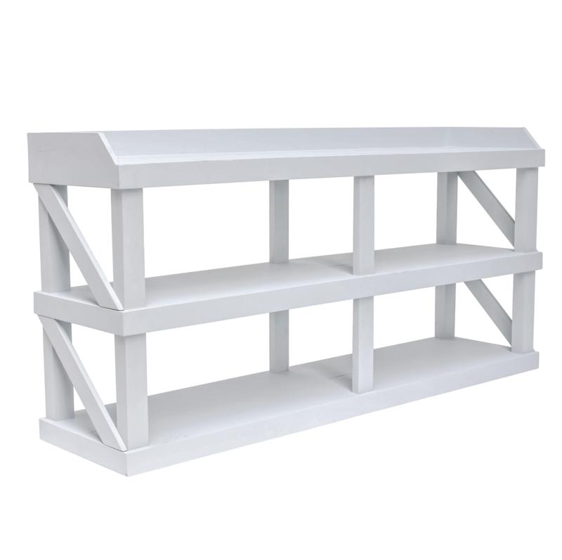 Werk-sidetable - Geschuurd grijs