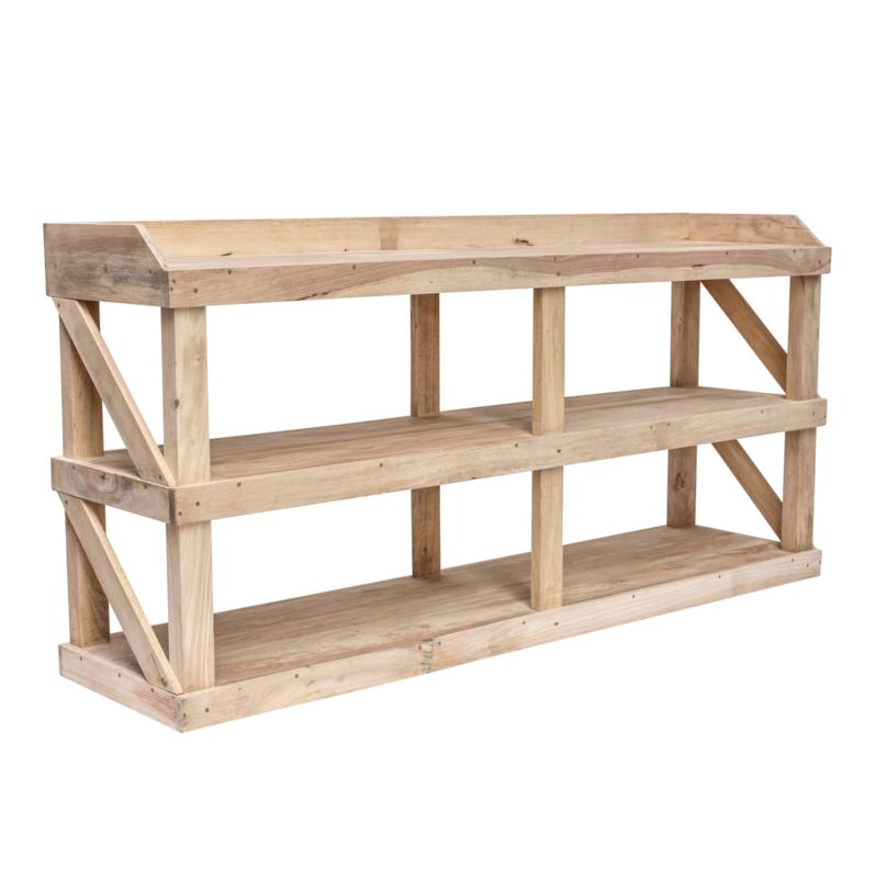 Werk-sidetable - Rubberhout