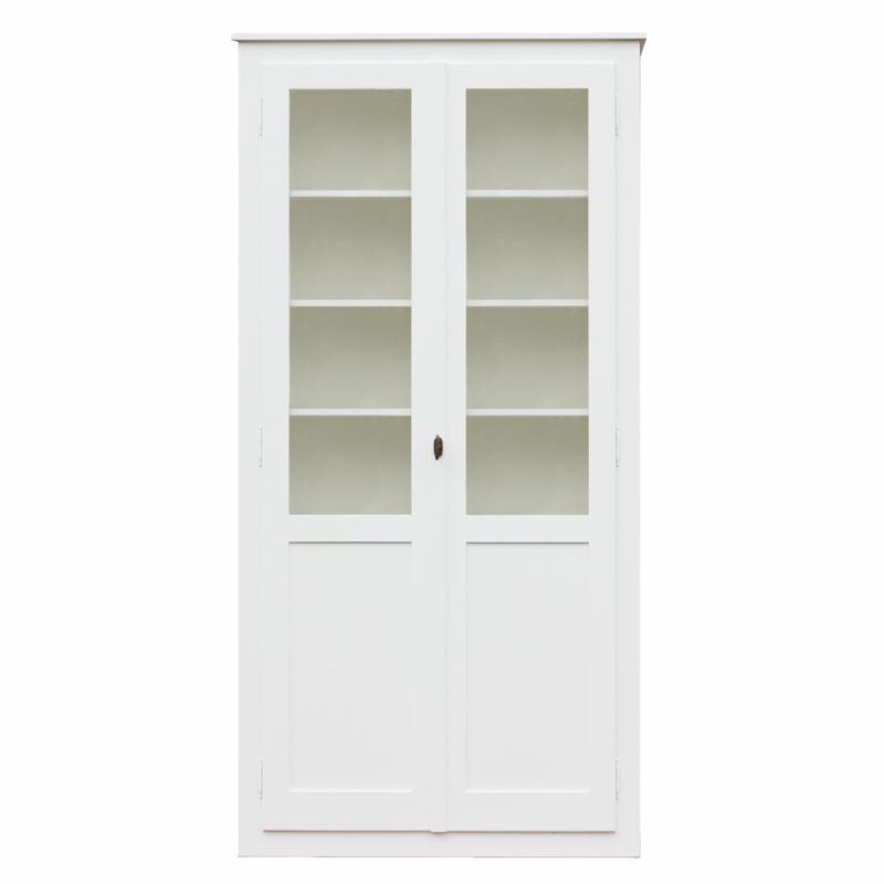Lange vitrinekast wit  (250cm)