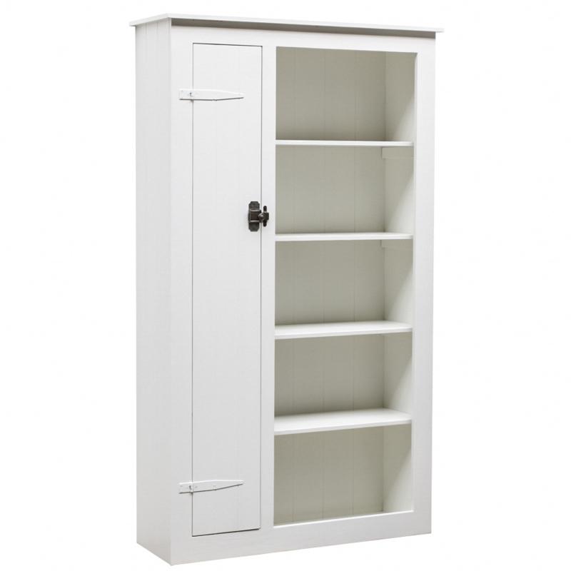 Houten locker boekenkast - Wit