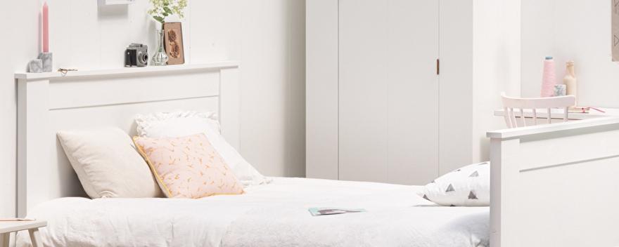 Wit Ledikant 2 Persoons.Houten 2 Persoonsbed Landelijk Bed 140x200 160x200