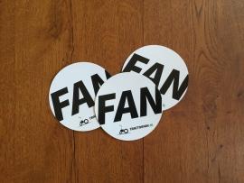 """3 ronde """"FAN"""" stickers"""