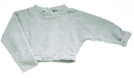 "Cropped sweat ""Bubba"" dusty blue"