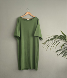 Long T-dress Tally green, mt.S/M