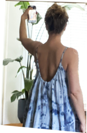 Summerdress Dahlia tiedye indigo mix