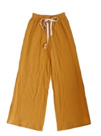 """Long wide pants """"Lonne"""" yellow ochre 134/140"""