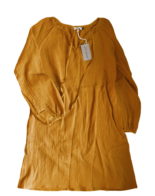 "Boho-dress ""Dreamer"" (W) yellow ochre"