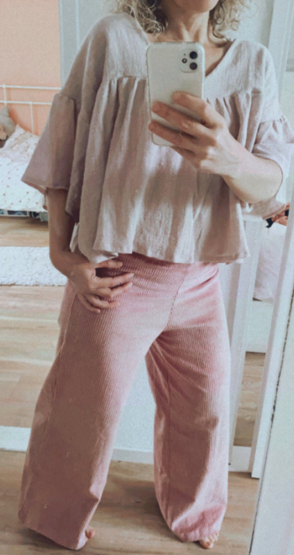 Long pants Poppy old pink