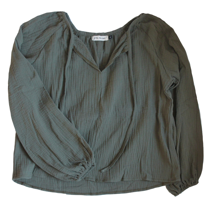 """Blouse """"Betsy"""" (W) army green"""