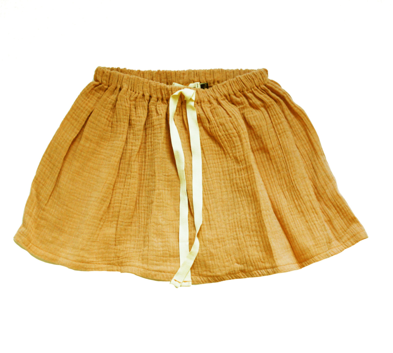 "Swingskirt ""Sooza"" yellow ochre"