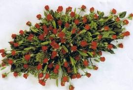 Ovaal rode rozen