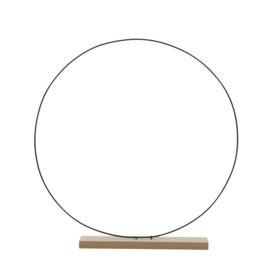 Decoratie cirkel op houten voet 55 cm