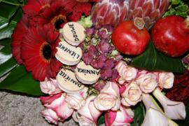 Vrij keuze namen voor rouwbloemen