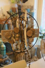 Droogbloemen cirkel 28 cm (hang)