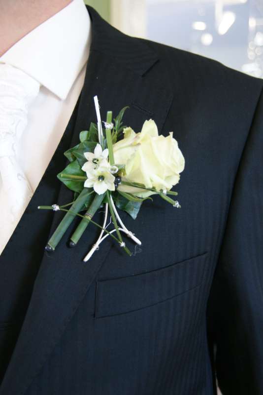 Bruidegomcorsage met magneet
